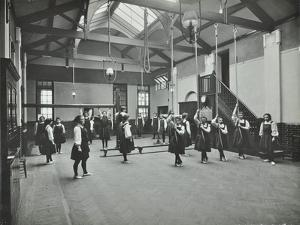 Girls in the Gymnasium, Fulham County Secondary School, London, 1908