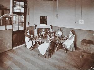 Girls Knitting Socks by Machine at the Elm Lodge School for Blind Girls, London, 1908