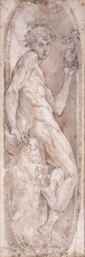 Adam Holding an Apple by Girolamo Mazzola Bedoli