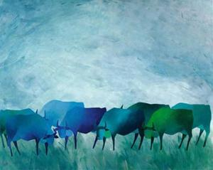 Cows I by Gisela Funke