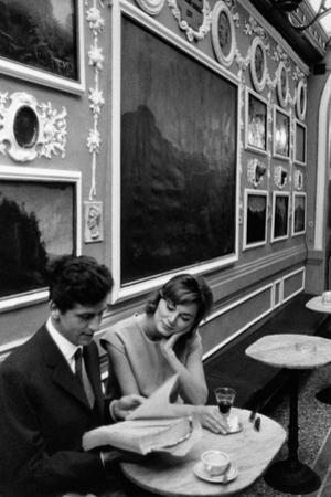 Giulio Bosetti and Lydia Alfonsi at the Antico Caffè Greco in Rome