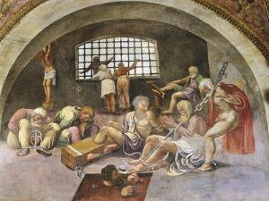 Chained Prisoners, Fresco by Giulio Romano