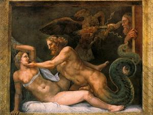 Jupiter and Olympia, 1526-1534 by Giulio Romano