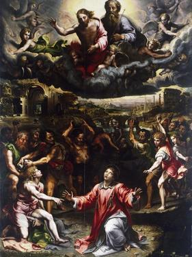 Martyrdom of St Stephen, Ca 1521 by Giulio Romano