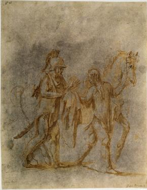 'Saint Martin and a Beggar', early 16th century by Giulio Romano