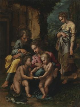 The Holy Family, c.1520-23 by Giulio Romano