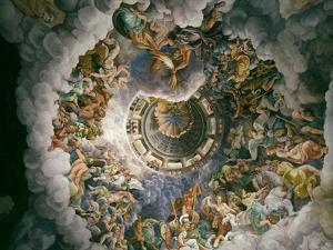 View of Olympus, Home of the Gods, Fresco in the Room of the Giants by Giulio Romano