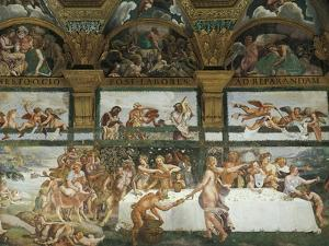 Wedding Banquet-Feast of the Gods by Giulio Romano