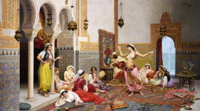 The Harem Dance by Giulio Rosati