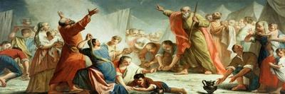 The Gathering of Manna in the Desert