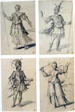 Costume Designs for Classical Deities, 16th Century by Giuseppe Arcimboldi