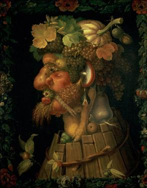 Autumn, from a Series Depicting the Four Seasons, Commissioned by Emperor Maximilian II by Giuseppe Arcimboldo