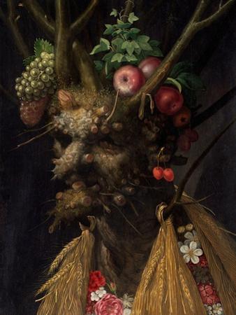 Four Seasons in One Head by Giuseppe Arcimboldo by Giuseppe Arcimboldo