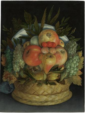 Reversible Anthropomorphic Portrait of a Man Composed of Fruit by Giuseppe Arcimboldo