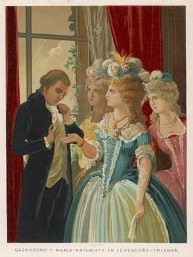 Giuseppe Balsamo Known as Cagliostro Reads the Hand of Marie Antoinette