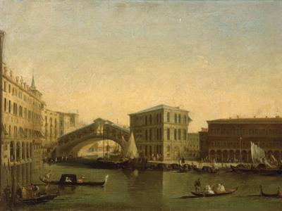 A View of the Rialto Bridge with the Palazzo dei Camerlenghi to the Right by Giuseppe Bernardino Bison