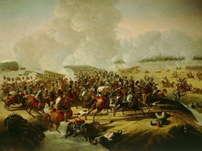 Battle Near Hanau, Schermish During Battle of Leipzig by Giuseppe Bernardino Bison