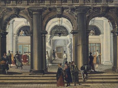 Entrance to Marciana Library in Venice by Giuseppe Bernardino Bison