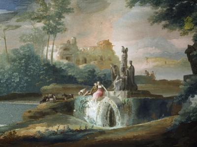 Galant Scene of Shepherds in an Imaginary Landscape by Giuseppe Bernardino Bison