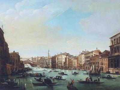 Grand Canal of Venice and Rialto Bridge by Giuseppe Bernardino Bison