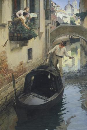 The Barcarolle, 1897 by Giuseppe Bernardino Bison