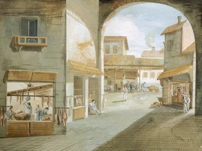 The Butcher's Shop by Giuseppe Bernardino Bison