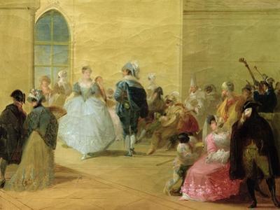 The Masked Ball by Giuseppe Bernardino Bison