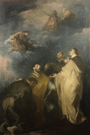 Trinity and the Saints, 1690-1769 by Giuseppe Bernardino Bison