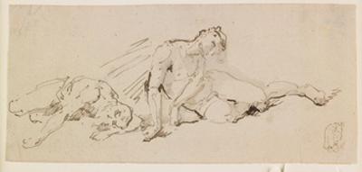 Two Male Figures (Study for the Resurrection) by Giuseppe Bernardino Bison
