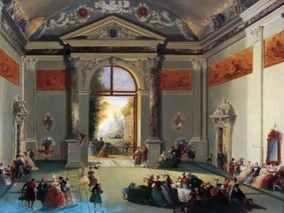 Venetian Conversation by Giuseppe Bernardino Bison