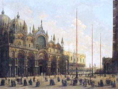 View of St. Mark's Basilica, Venice by Giuseppe Bernardino Bison