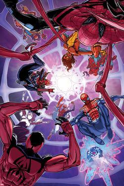 Spider-Verse No. 2 Cover, Featuring: Spider Woman, Spider-Man, Scarlet Spider, Spider-Punk and More by Giuseppe Camuncoli