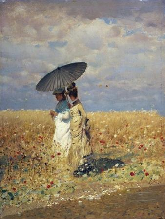 A Field of Wheat by Giuseppe De Nittis