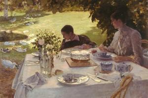 Breakfast in the Garden by Giuseppe De Nittis