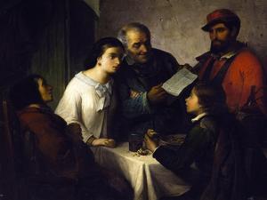 Letter of the Volunteer of 1859 by Giuseppe De Nittis