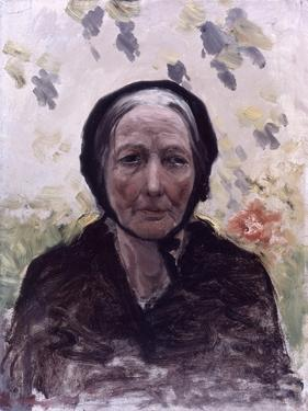 Old Woman (Dressed in Black, with Wisteria) by Giuseppe De Nittis
