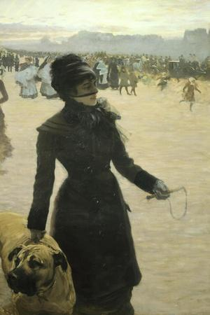 Returning from the Bois De Boulogne, Lady with a Dog, 1878