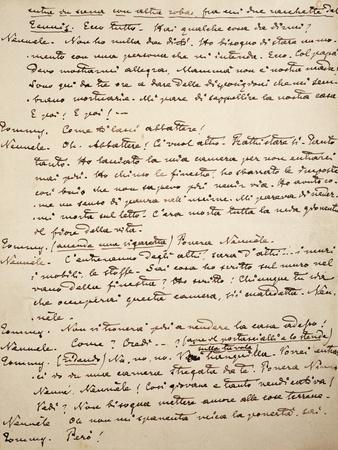 Handwritten Page of Like Falling Leaves