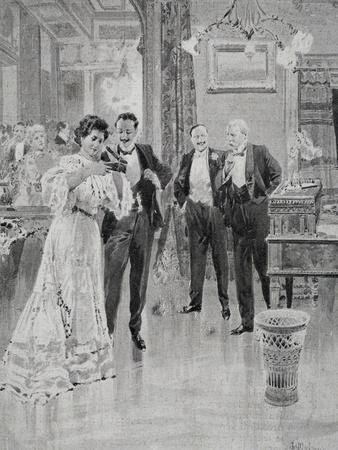 Scene of Act I of the Play the Strongest