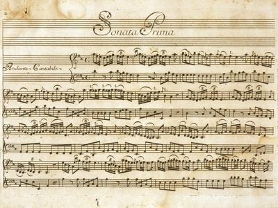 Sonata No, 1 for Violin and Basso