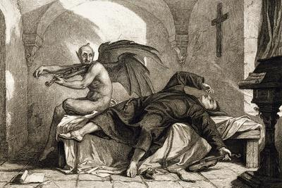 The Dream, Engraving by James Marshal for the Violin Sonata in G Minor or the Devil's Trill