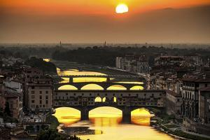 Sunset in Florence by Giuseppe Torre