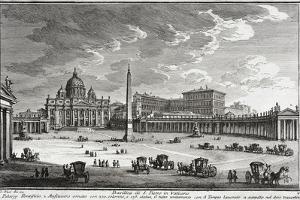 Basilica of Saint Peter's, Vatican, c.1753 by Giuseppe Vasi