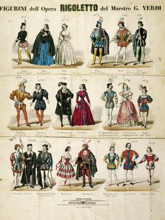 "Italy, Milan, Sketches for ""Rigoletto"""