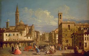 Badia Fiorentina and the Bargello, Florence by Giuseppe Zocchi