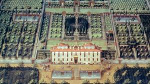 Villa Di Castello from a Series of Lunettes Depicting Views of the Medici Villas, 1599 by Giusto Utens