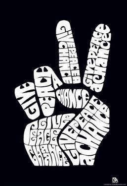 Give Peace a Chance Text Poster