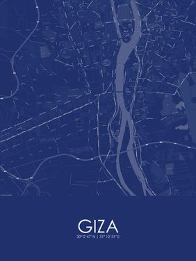 Giza, Egypt Blue Map