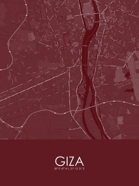 Giza, Egypt Red Map