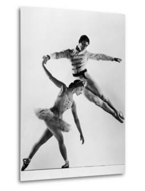 "Alicia Alonso and Igor Youskevitch in the American Ballet Theater Production of ""Nutcracker"" by Gjon Mili"